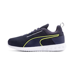 Carson 2 Concave Youth Trainers, Puma Black-Peacoat, small