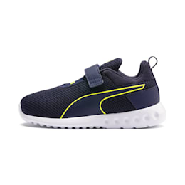Carson 2 Concave Kids' Trainers, Puma Black-Peacoat, small