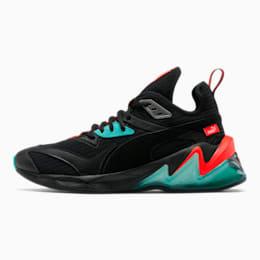 LQDCELL Origin Men's Training Shoes, Puma Black-Nrgy Red-Blue, small