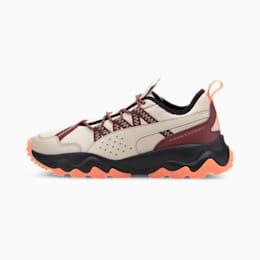 Calçado de running Ember Trail para mulher, Tapioca-Brnt Rsset-Fzzy Orge, small