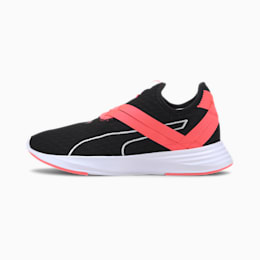 Zapatos de entrenamiento sin cordones Radiate XT NC para mujer, Negro-Ignite Pink-Puma White, pequeño