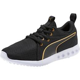 Carson 2 Metallic Mesh Shoes JR, Puma Black-Gold, small