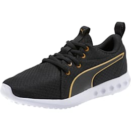 Carson 2 Metallic Mesh Shoes JR, Puma Black-Gold, small