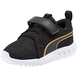 Carson 2 Metallic Mesh Toddler Shoes, Puma Black-Gold, small