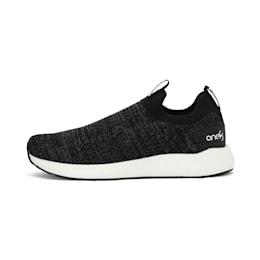 NRGY Neko Slip-On one8 Unisex Running Shoes, Puma Black-Puma White, small-IND