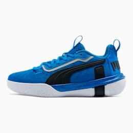 Zapatos para básquetbol Legacy de caña baja para junior, Strong Blue-Puma Black, pequeño