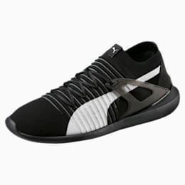 Ferrari Evo Cat Sock Lace Shoes, Puma Black-Puma White-Black, small-IND