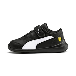 Scuderia Ferrari Kart Cat III Toddler Shoes, Black-White-Blazing Yellow, small