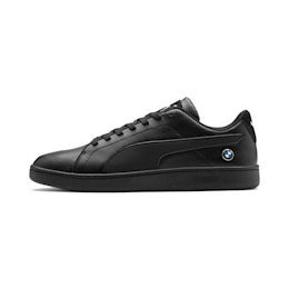 BMW M Motorsport Smash V2 Shoes, Puma Black-Puma Black, small-IND