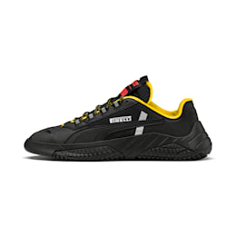 Zapatos Replicat-X Pirelli Motorsport, Black-Black-Cyber Yellow, pequeño