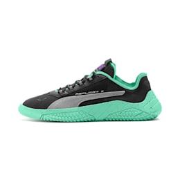 Replicat-X Fluro Sneaker, Black-Green Glimmer-Silver, small