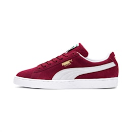 Suede Classic+ Sneakers, cabernet-white, small