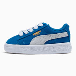 Puma Suede Toddler Shoes, Snorkel Blue-Puma White, small