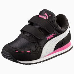 Cabana Racer Mesh AC Toddler Shoes, black-white-carmine rose, small
