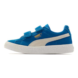 キッズ スウェード 2ストラップ PS (17-21cm), Snorkel Blue-Puma White, small-JPN