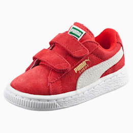 Suede Preschool Sneaker mit 2 Riemen, High Risk Red-Puma White, small