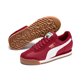 Roma Basic Summer Sneakers JR, Rhubarb-Puma White, small