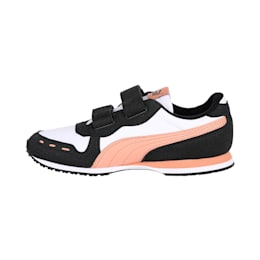 Cabana Racer Kids' Shoes, Wht-Blk-D.Coral-Dusty Coral, small-IND