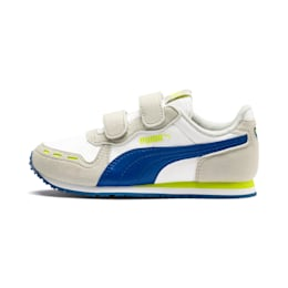 Cabana Racer Kids' Trainers, Puma White-Galaxy Blue, small