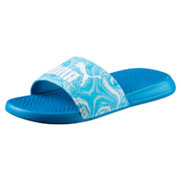 Popcat Marble Slide Sandals, BLUE DANUBE-Puma White, small-IND