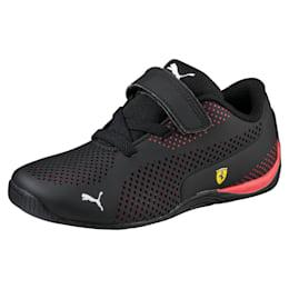 Scuderia Ferrari Drift Cat 5 Ultra Little Kids' Shoes, Puma Black-Rosso Corsa, small