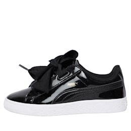 Basket Heart Patent Pre-School Girls' Shoes, Puma Black-Puma Black, small-IND