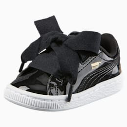 Basket Heart Patent Toddler Shoes, Puma Black-Puma Black, small