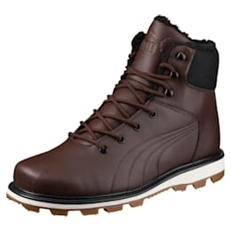 Desierto Fun Leather Winter Boots, Chocolate Brown-Chocol Brown, small-IND