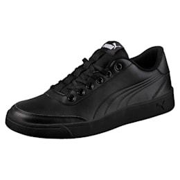 Court Breaker Leather Mono Shoes, Puma Black-Puma Black, small-IND