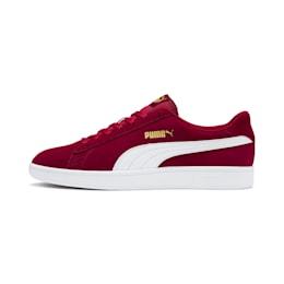 Zapatos deportivos PUMA Smash v2 para hombre, Rhubarb-Puma Team Gold-White, pequeño
