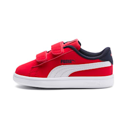 PUMA Smash v2 Buck Toddler Shoes, High Risk Red-Puma White, small