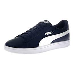 Smash v2 Leather Shoes, Peacoat-Puma White, small-IND