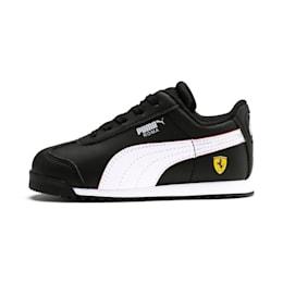 Scuderia Ferrari Roma Toddler Shoes, Black-White-Rosso Corsa, small
