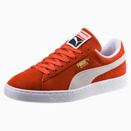 Suede Classic Shoes, Burnt Ochre-Puma White, small-IND