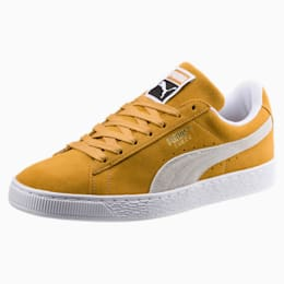 Suede Classic Shoes, Honey Mustard-Puma White, small-IND