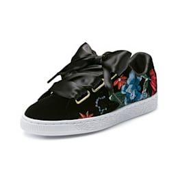 Basket Heart Hyper Embroidery Women's Shoes, Puma Black, small-IND
