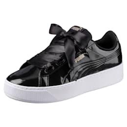 Vikky Platform Ribbon Women's Shoes, Puma Black-Puma Black, small-IND
