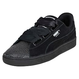 Suede Heart Bubble Women's Shoes, Puma Black-Puma Black, small-IND