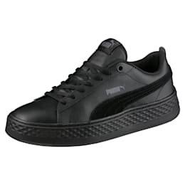 Puma Smash Platform Women's Shoes, Puma Black-Puma Black, small