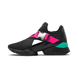 MUSE EOS Street 1 Women's Sneakers, Puma Black-KNOCKOUT PINK, small