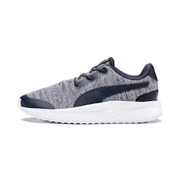 Pacer Next FS Knit AC Kids' Trainers, Peacoat-Puma White, small