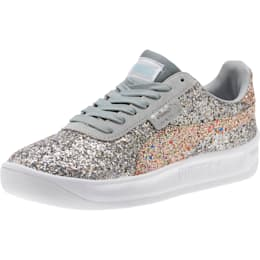California Glitz Women's Sneakers, Silver-CERULEAN-Quarry, small