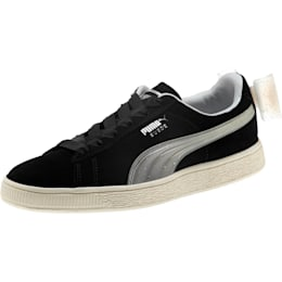 Suede Jelly Bow Sneakers JR, Puma Black-Glac Gray-Silver, small