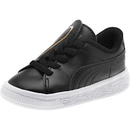 Zapatos Basket Crush AC para bebés, Puma Black-Puma Team Gold, pequeño