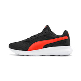 ST Activate Youth Shoes, Puma Black-Cherry Tomato, small-IND