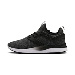 Pacer Next Excel VariKnit Trainers, Puma Black-Charcoal Gray, small-IND