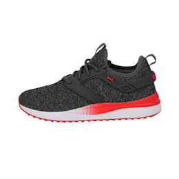 Pacer Next Excel VariKnit Shoes, Dark Shadow-High Risk Red, small-IND