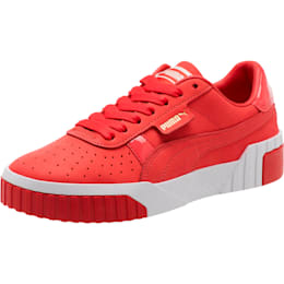 Cali Nubuck Women's Sneakers, Hibiscus -Puma White, small