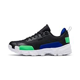 Trailfox Leather Sneakers, Puma Black-Irish Green, small
