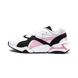 Nova '90s Bloc Women's Trainers, Puma White-Pale Pink, small